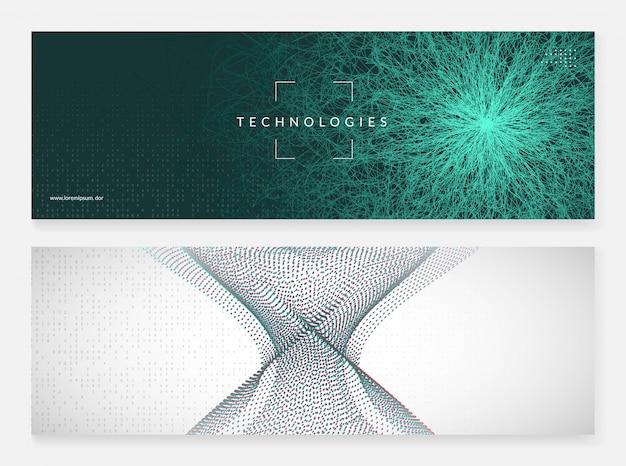 Fondo de banner abstracto de tecnología digital