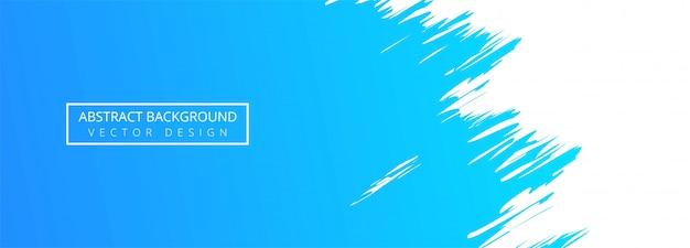 Fondo de banner de acuarela de trazo azul abstracto