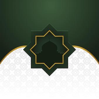 Fondo de banner árabe tradicional