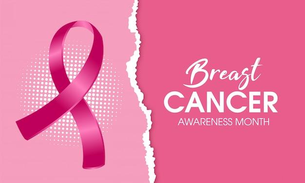 Fondo de banner de conciencia de cáncer de mama