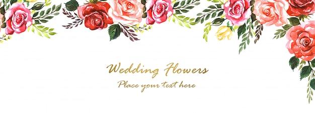 Fondo de banner creativo de flores elegantes