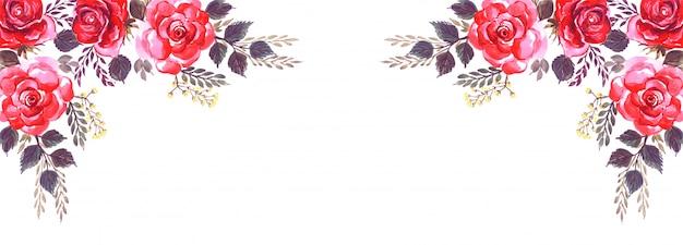 Fondo de banner decorativo de flores abstractas