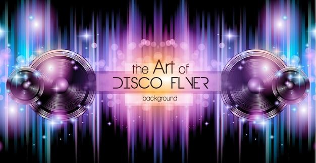 Fondo de banner de disco club para music nights event.