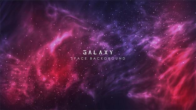 Fondo de banner de espacio abstracto de gradiente galaxia de vía láctea cósmica