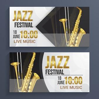 Fondo de banner de festival de jazz