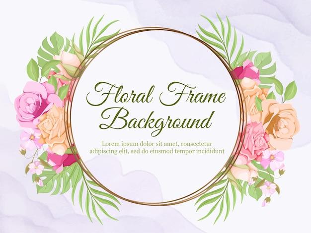 Fondo de banner floral para mujeres y decoración de bodas.