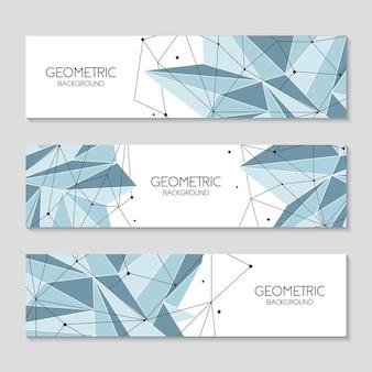 Fondo de banner futurista abstracto poligonal, bajo poli