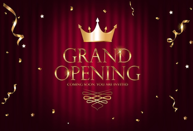 Fondo de banner de invitación de lujo de gran inauguración