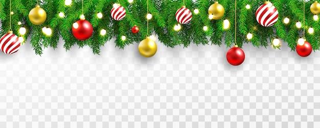 Fondo de banner ligero de fiesta de navidad y feliz año nuevo.