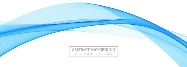 Fondo de banner de ola de negocio creativo azul abstracto