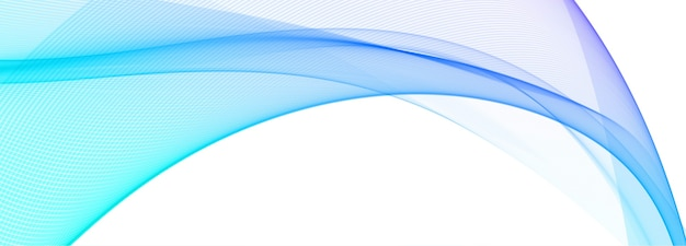 Fondo de banner de onda colorida que fluye moderno