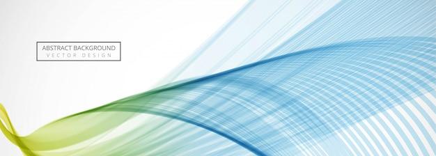 Fondo de banner de onda creativa de negocios modernos