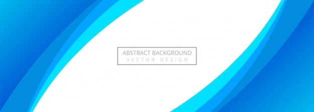 Fondo de banner de onda elegante azul abstracto