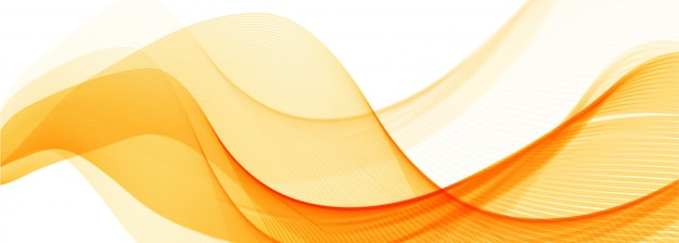 Fondo de banner de onda elegante naranja abstracto