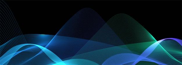 Fondo de banner de onda de negocio colorido brillante abstracto