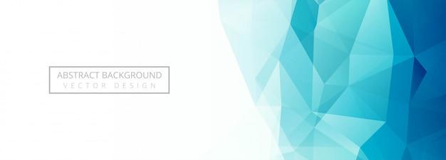 Fondo de banner de polígono azul moderno