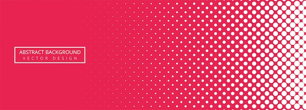 Fondo de banner punteado rosa y blanco abstracto