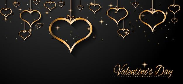 Fondo de banner de san valentín
