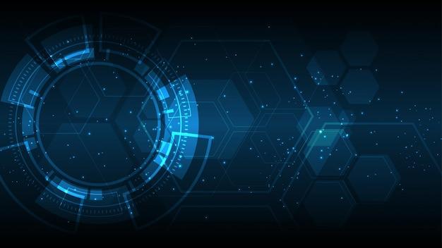 Fondo de banner de tecnología abstracta