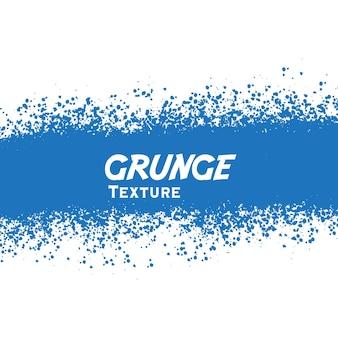 Fondo de banner de trazo grunge azul