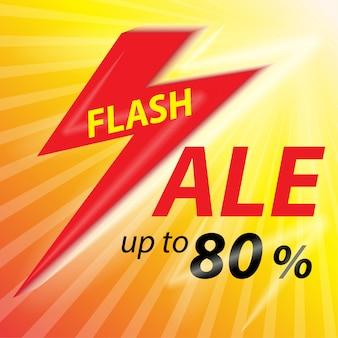 Fondo de banner de venta flash.