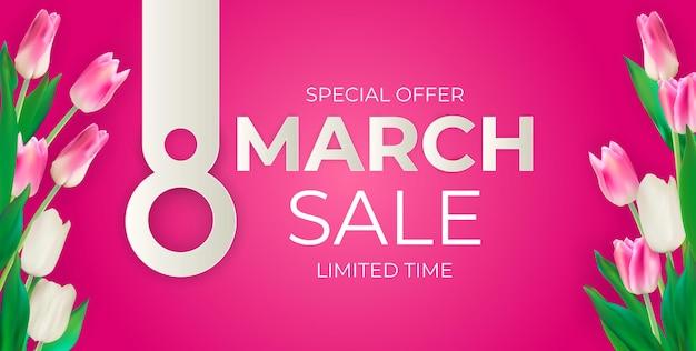 Fondo de banner de venta de marzo