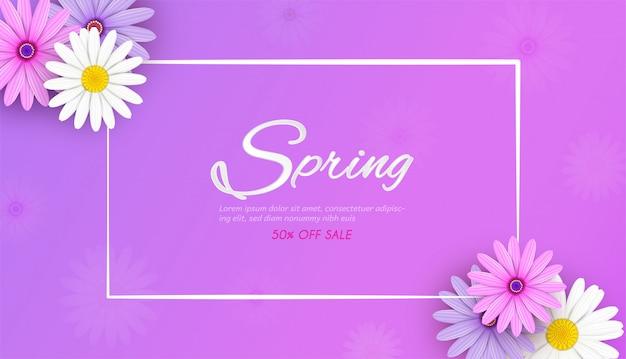 Fondo de banner de venta de primavera