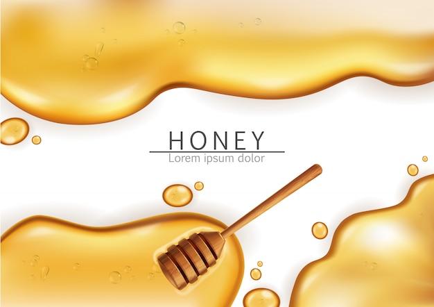 Fondo de baño de miel