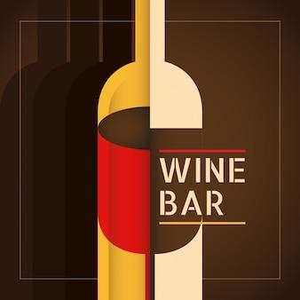 Fondo de bar de vinos