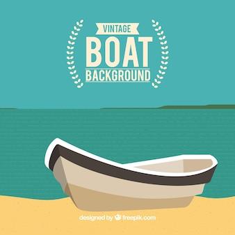 Fondo de barca en la orilla