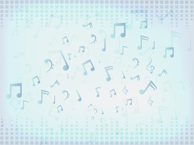 Fondo de barras de sonido de música abstracta con notas.