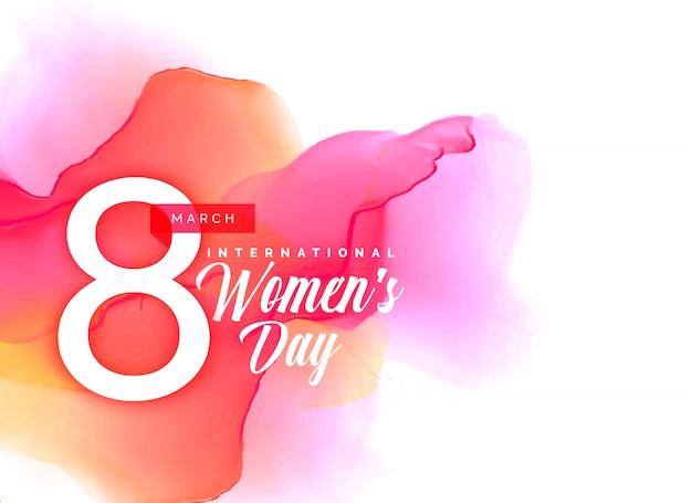 Fondo de beauful día de la mujer con efecto acuarela vibrante