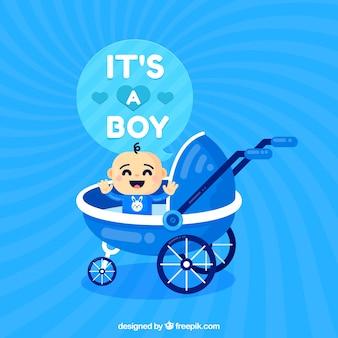 Fondo de bebé en estilo plano