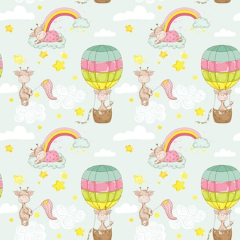 Fondo de bebé jirafa
