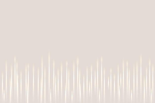 Fondo beige de tecnología de ecualizador de música con onda de sonido digital blanca