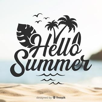 Fondo de bienvenida al verano