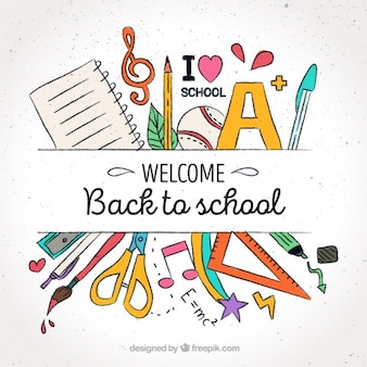 Fondo para la bienvenida a la escuela