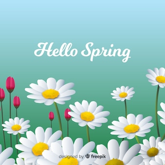 Fondo de bienvenida a la primavera