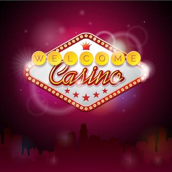 Fondo de bienvenido al casino