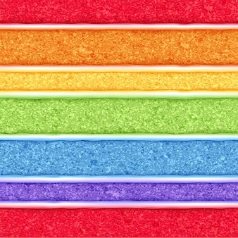 Fondo de bizcocho de arco iris. textura transparente de colores.