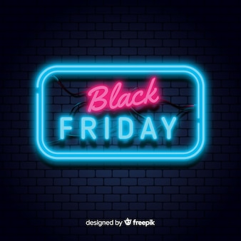 Fondo black friday neon