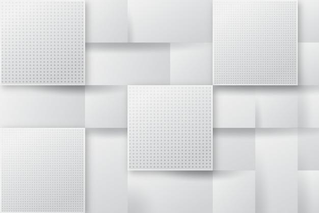 Fondo blanco abstracto cuadrado moderno