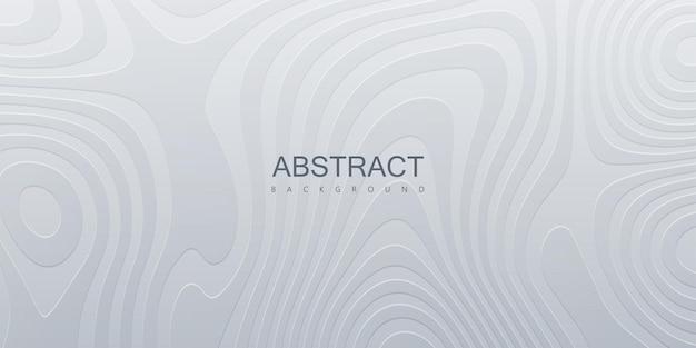 Fondo blanco abstracto con patrón ondulado topográfico