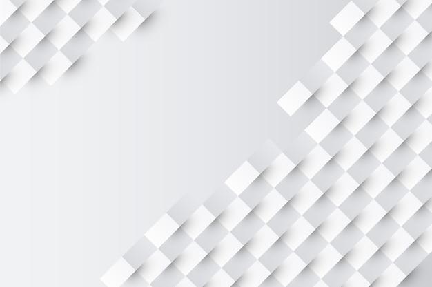 Fondo blanco en concepto de papel 3d