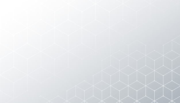 Fondo blanco con diseño de patrón de línea hexagonal