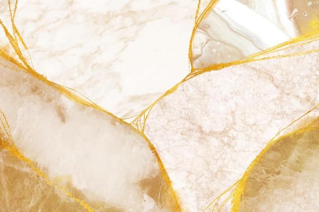 Fondo blanco con elementos marrones y dorados Vector Premium