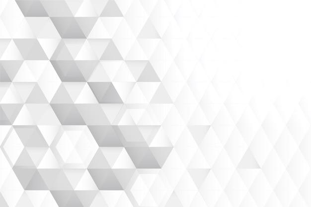 Fondo blanco del espacio de la copia del panal 3d
