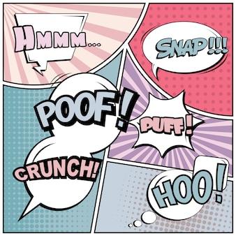 Fondo en blanco de estilo cómic pop art.