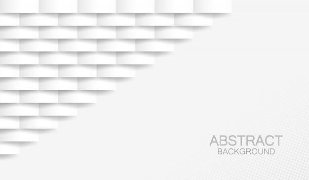 Fondo blanco con estilo de papel 3d