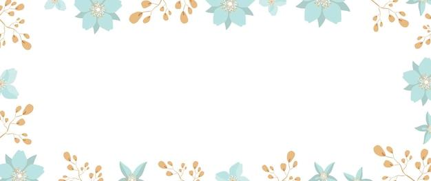 Fondo blanco con flores y hojas